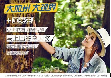 califormnie Chinois tourisme