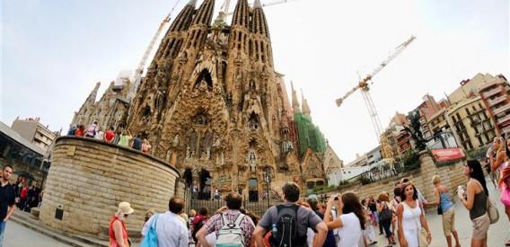 Espagne et touristes