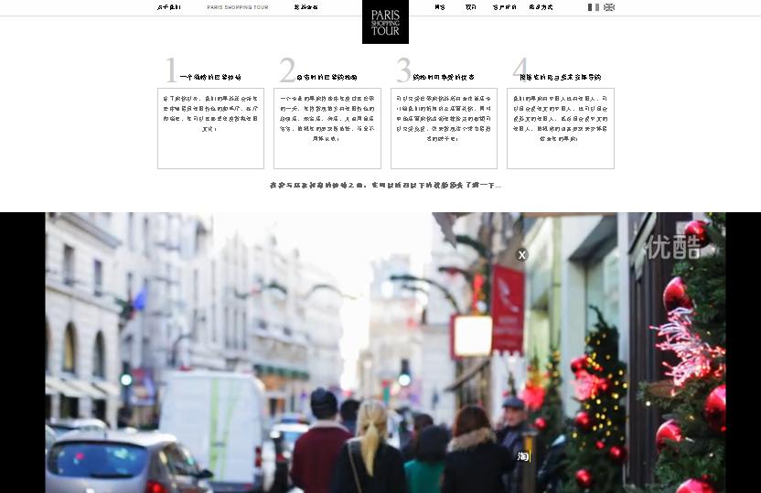 paris shopping Tour Site web