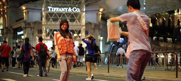 touristes chinois hong kong